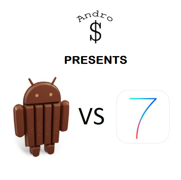Android 4.4 vs iOS 7 - iOS 7 vs Android 4.4 KitKat – The Smartphone Wars