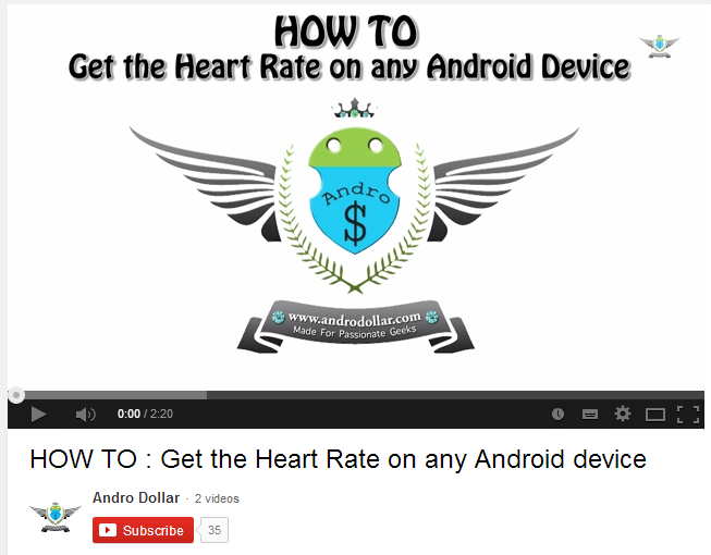 Capture - VIDEO : HOW TO : Get the Heart Rate on any Android device