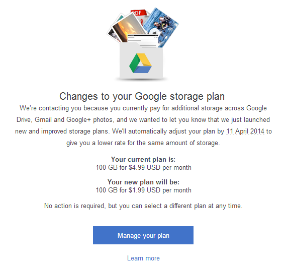 Google Drive gets a Big Price Drop — Andro Dollar