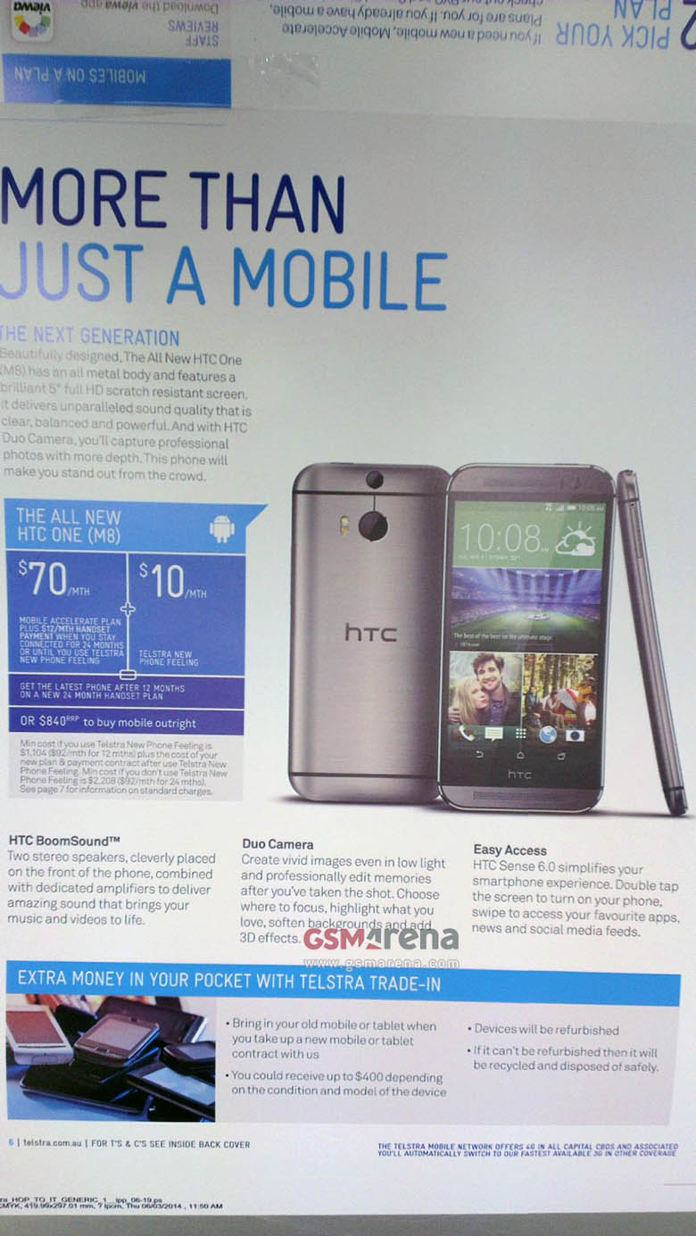 gsmarena 003 - Want to know why the HTC One 2014 (M8) is going to have 2 Cameras?