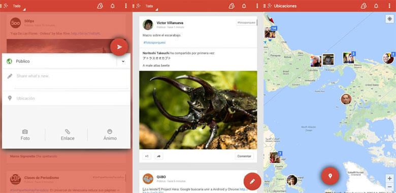 new google plus look - LEAKED : Google+ Android App UI Makeover