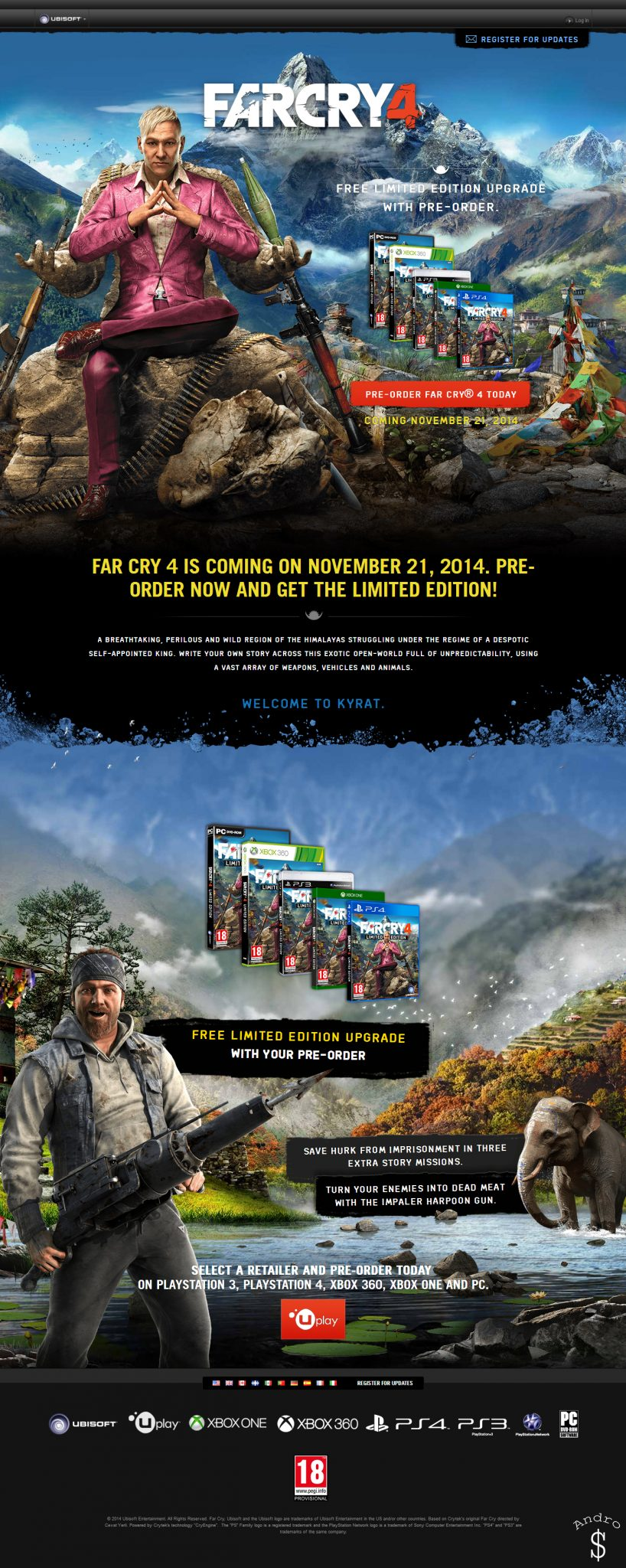 Far Cry 4 Release Date Revealed – Andro Dollar