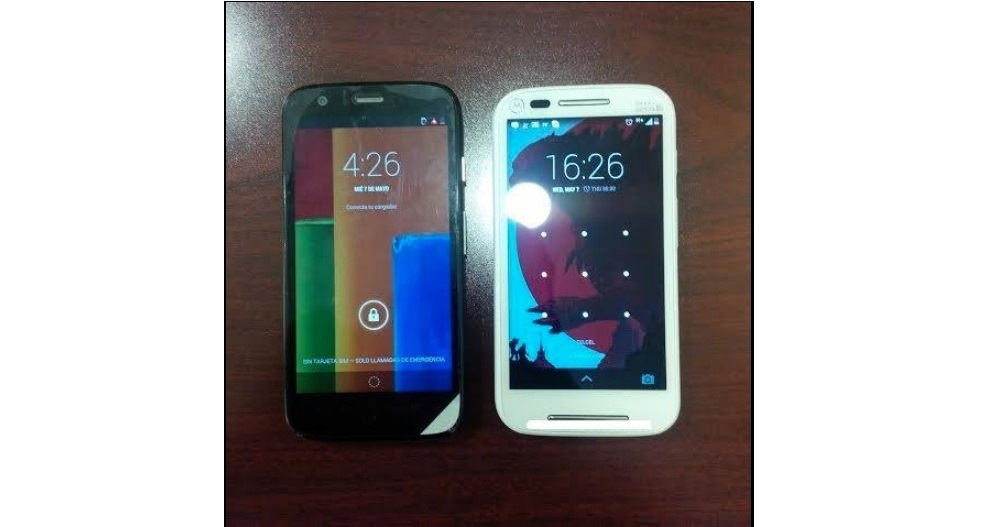moto e next to moto g leak - LEAKED : Moto E Press Renders in multiple colours and Full Specifications