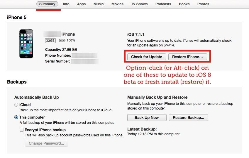 install iOS 8 beta on iphone - HOW TO : Install the Final Version of iOS 8 on your iDevice [Download ipsw here]
