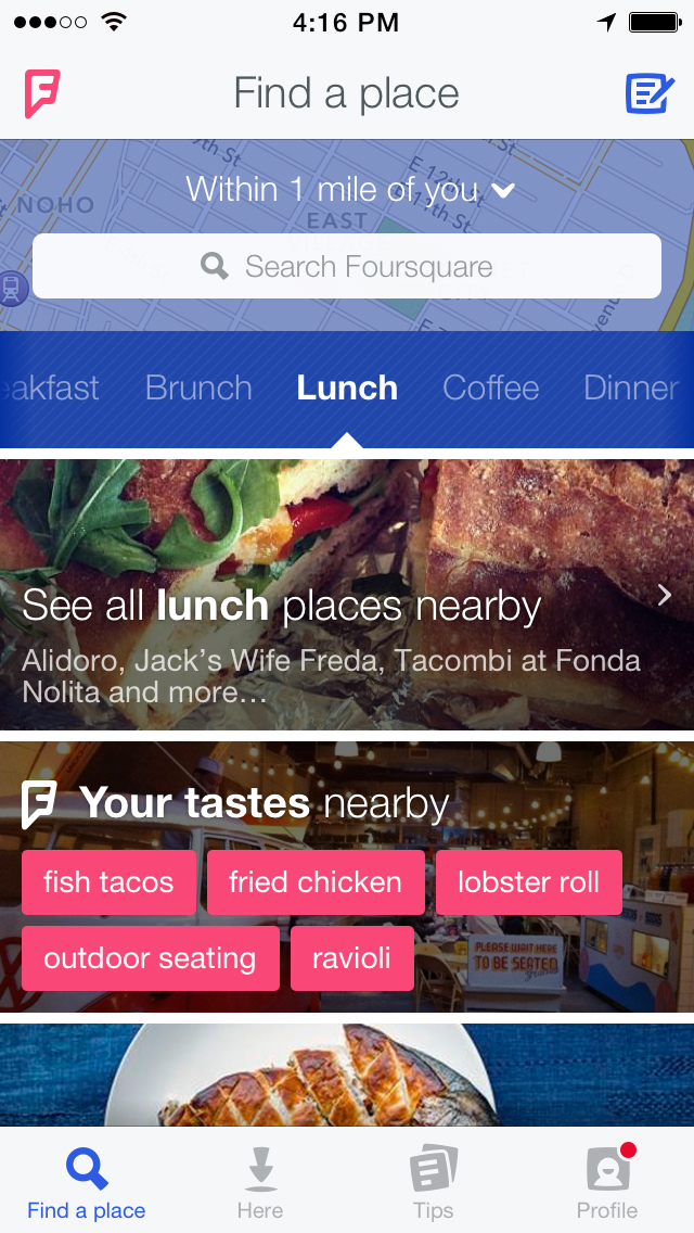 four1 - Meet the Transformed Foursquare App; Bye Bye Check-ins!