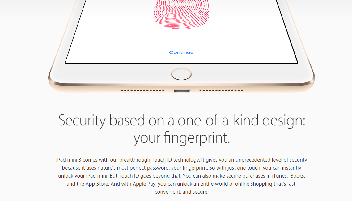 Apple iPad mini 3 03 - Apple unveils the iPad Mini 3 with Touch ID