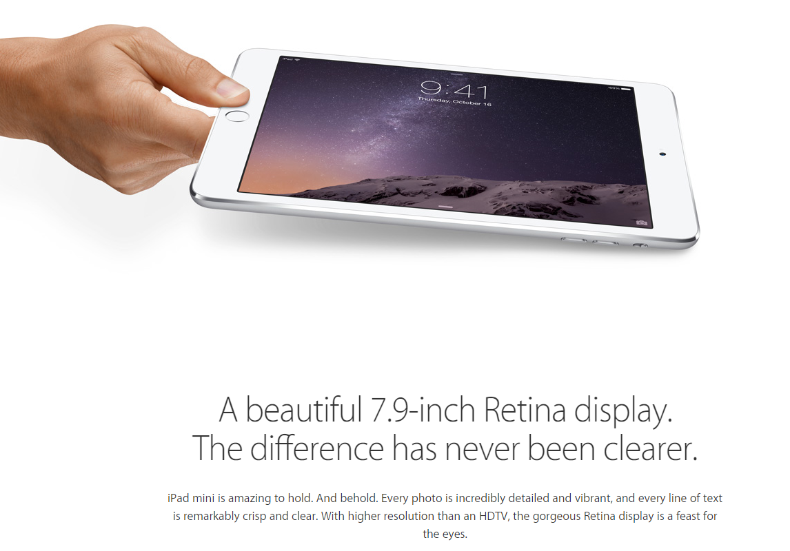 Apple iPad mini 3 07 - Apple unveils the iPad Mini 3 with Touch ID