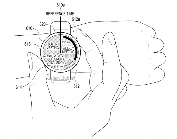 samsung patent interface round smartwatch2 - Samsung patents a Ring-operated Smartwatch