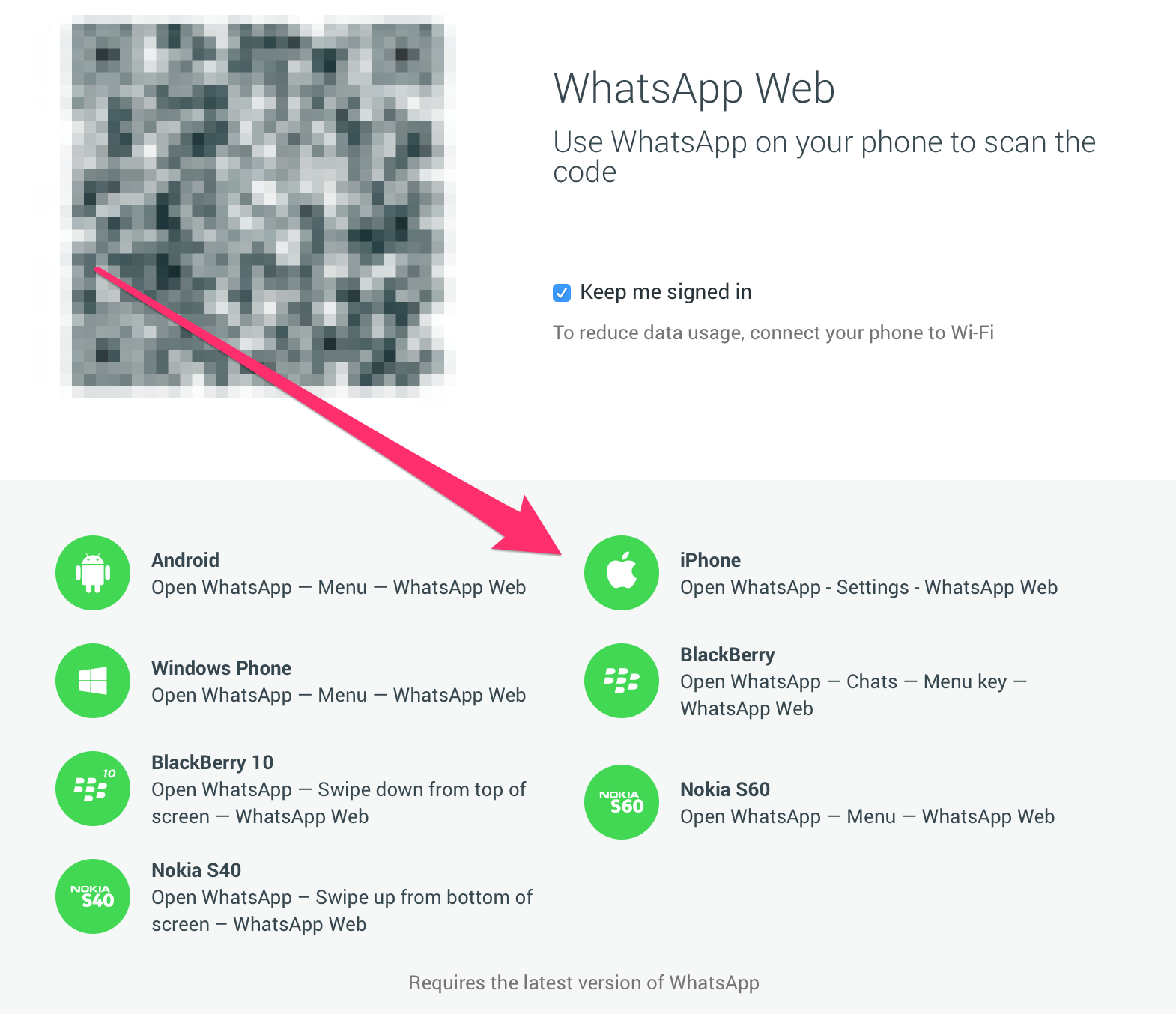 Screen Shot 2015 08 19 at 5 18 58 PM - Whatsapp Web is finally coming to iOS