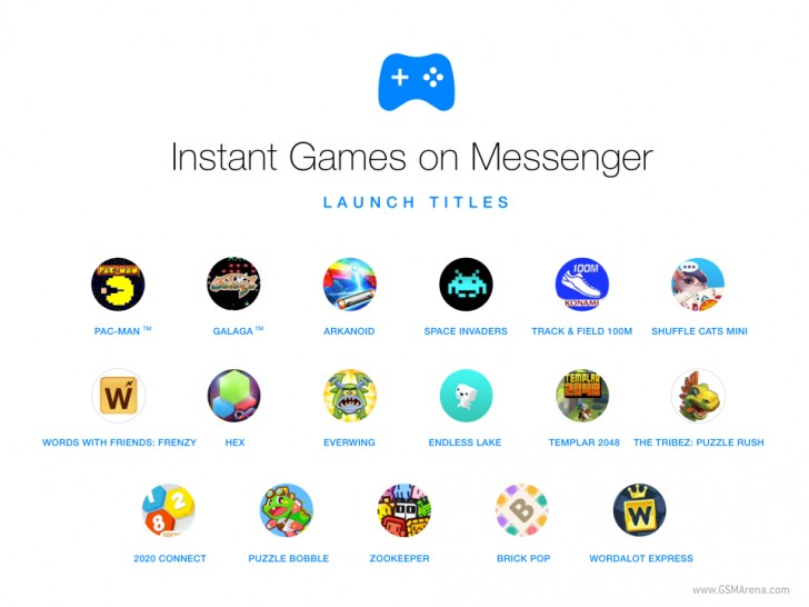 fbgames - Facebook adds Instant Games to Messenger