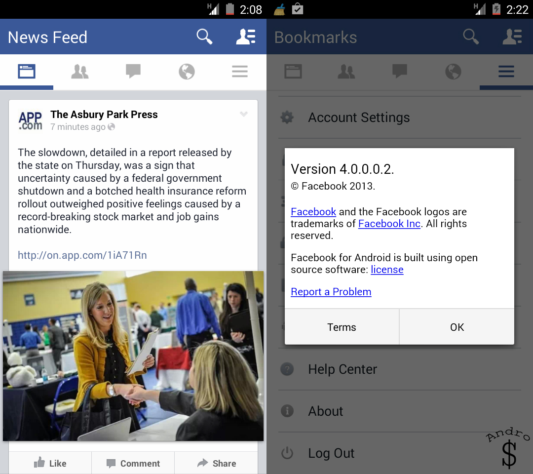 Facebook 1 - LEAKED : Brand New Facebook UI for Android coming soon