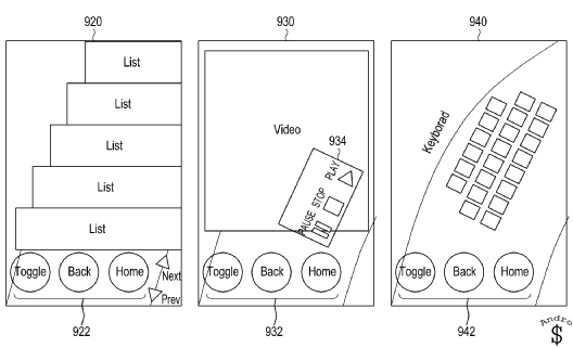 Samsung Patent 1 - Samsung Patents a new type of interface, that makes one-handed tasks simple