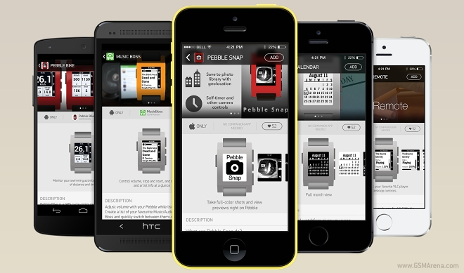 gsmarena 0012 - Pebble announces a dedicated app store for its smartwatch