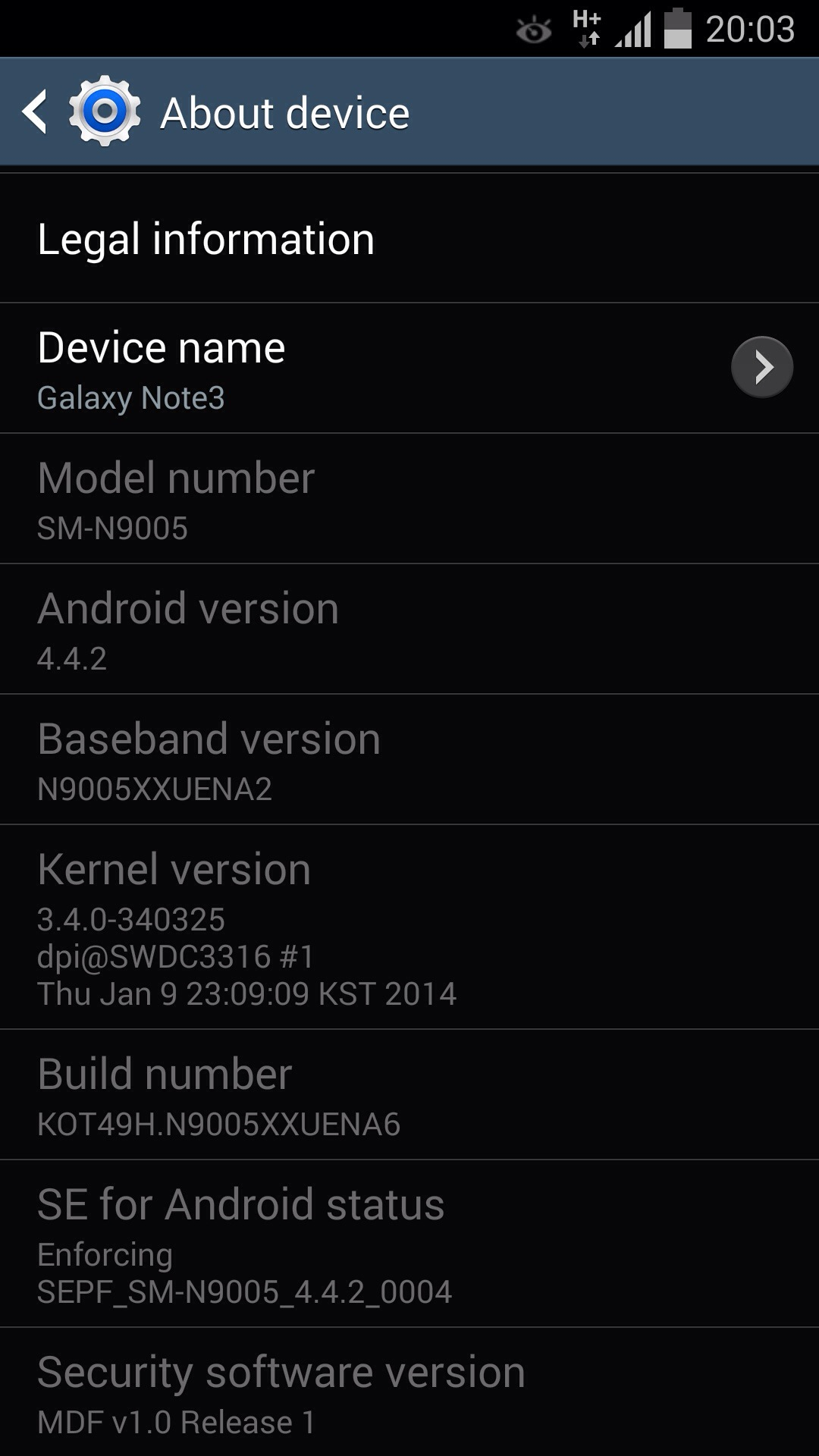 20140113 031130 - LEAKED : Galaxy Note 3 Android 4.4 KitKat Test firmware