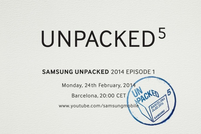 unpacked 5 - Samsung Galaxy S5 Unpacked event scheduled for MWC 2014