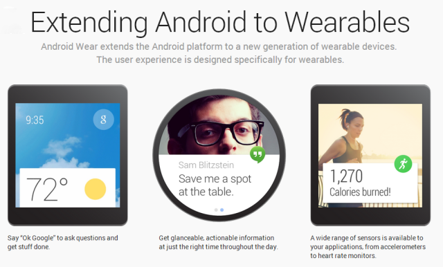 Android Wear 11 640x386 - Google releases Android Wear Developer Preview