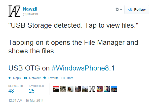 Capture2 - Windows Phone 8.1 to support USB OTG?