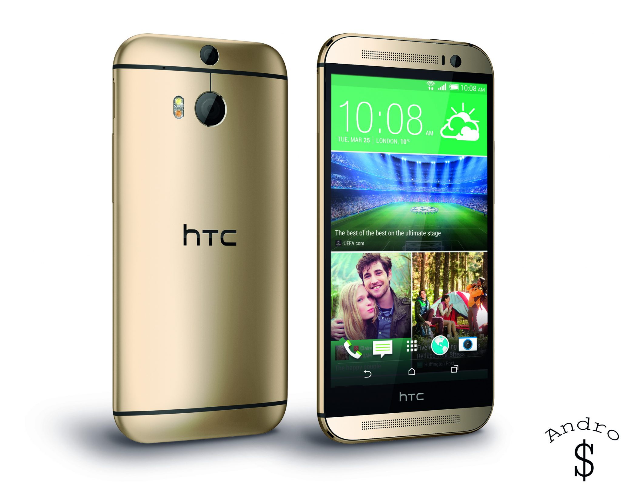 HTC One M8 PerRight Gold - BREAKING NEWS : HTC releases the HTC One 2014 (M8)