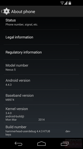 gsmarena 001 - Android 4.4.3 details comeout