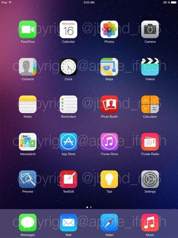24 - LEAKED : iOS 8 running on the iPhone 5S & iPad