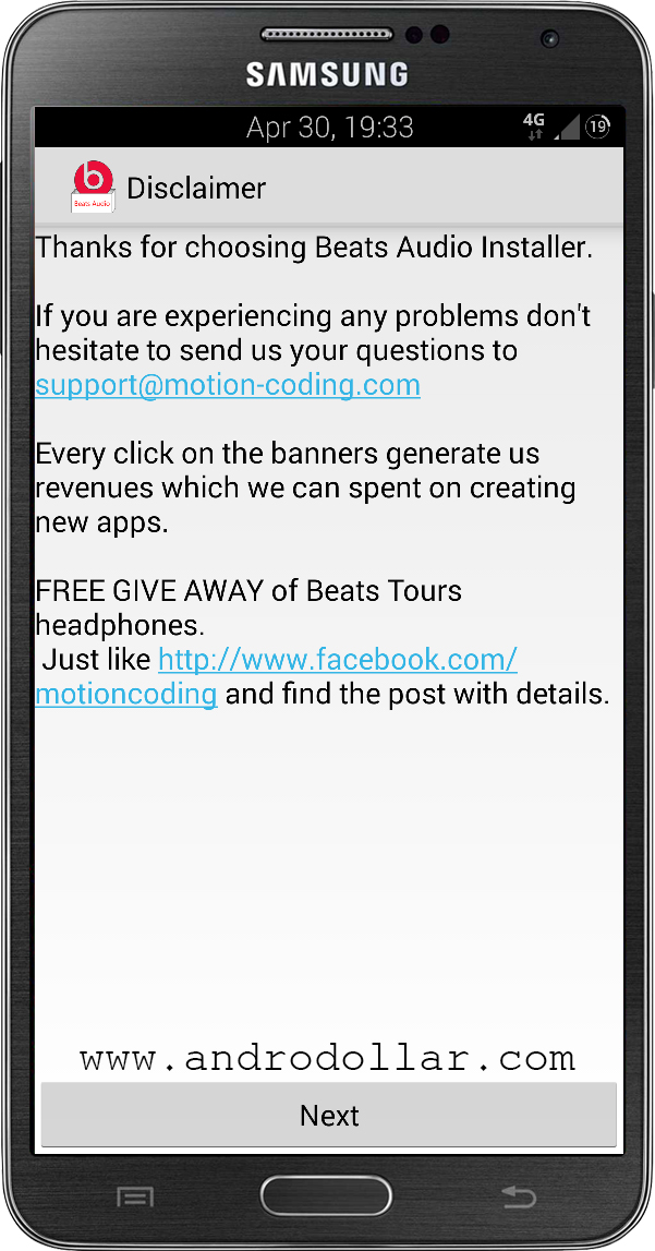 BeatsAudioInstaller www.androdollar 3 - HOW TO : Install Beats Audio on Any Android Device