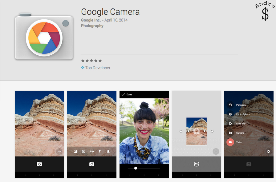 Stock Google Camera App Launched on the Google Play Store
