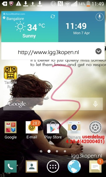 LGG3 www.androdollar.com  - LEAKED : Alleged Screenshot & Internal Details of LG G3