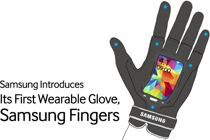 Samsung Fingers wearable glove flexible April Fools 01 - Round-up of April Fool's day pranks by Tech Giants (2014)