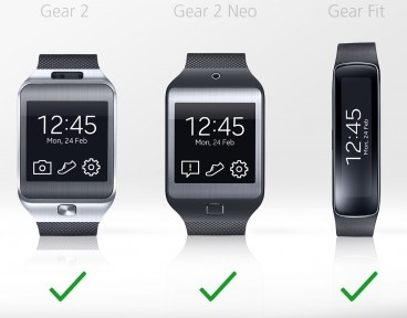 galaxy gear vs gear 2 vs gear 2 neo vs gear fit 10 - Samsung Gear Smartwatches will work with 20 Devices