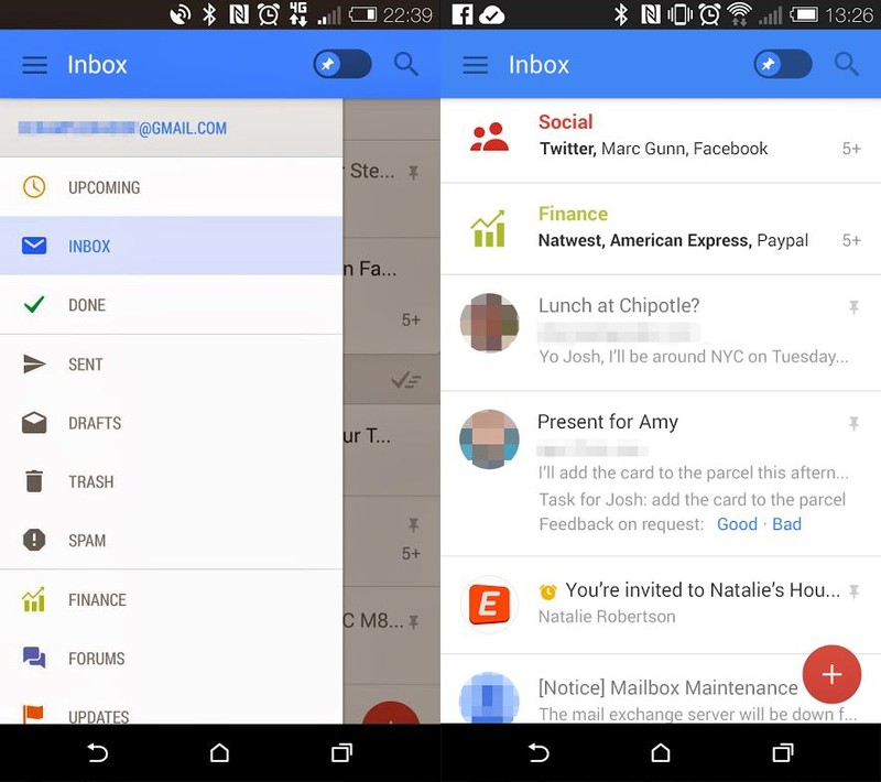 new gmail screenshots - LEAKED : Gmail for Android Redesign