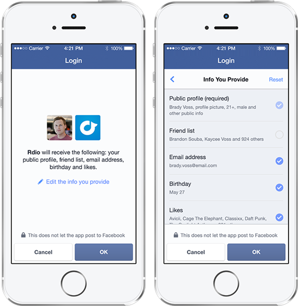 "Anonymous Login - Facebook Launches ""Anonymous Login"" and ""Audience Network"" at f8 2014"
