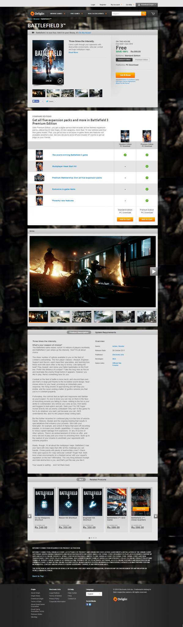 Battlefield3 Free Origin AndroDollar 1 - DEAL ALERT : Battlefield 3 Free on Origin [EXPIRED]