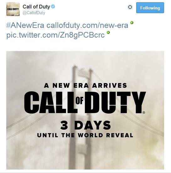 Capture - New Call of Duty game reveal dated for 4th May by Activison