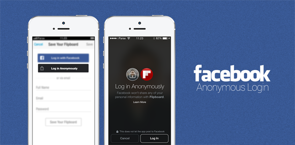 "Facebook Anonymous Login main - Facebook Launches ""Anonymous Login"" and ""Audience Network"" at f8 2014"