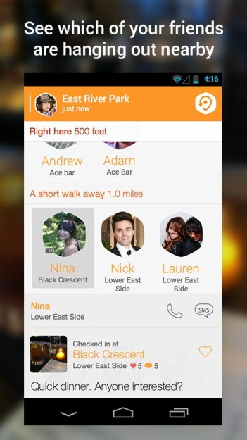 SWARM ANDROID ANDRODOLLAR 3 - Foursquare's All New Check-in App, SWARM is now available to download; Get the APK here