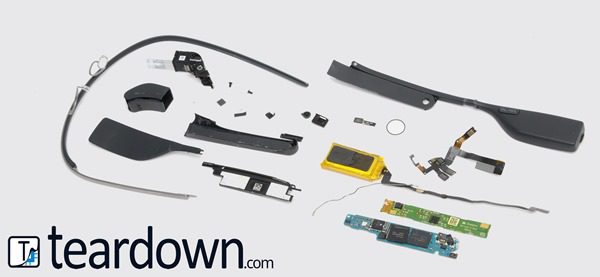 Teardown Image - Google Glass tear-down reveals components cost only $80, but Google sells it for $1500