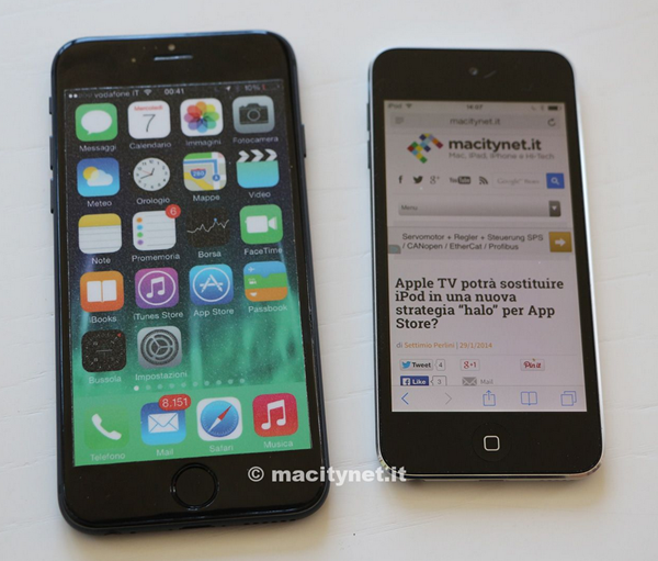 iPhone6 Dummy www.androdollar 1 - LEAKED : Apple iPhone 6 in Gold and Compared to the iPod 5
