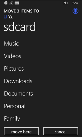 uiBhJFf - Screenshots of the Official Windows Phone File Manager emerge