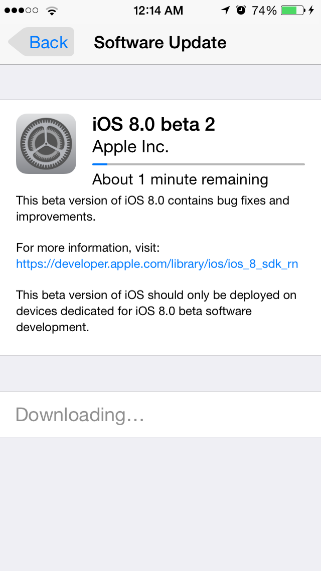 iOS8Beta2 iPhone5S AndroDollar 3 - iOS 8 Beta 2 Now Seeding to Developers [Download ipsw here]