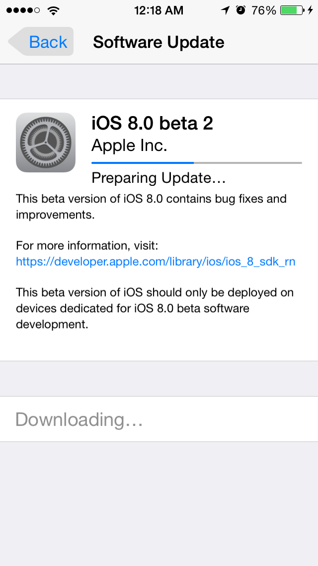 iOS8Beta2 iPhone5S AndroDollar 4 - iOS 8 Beta 2 Now Seeding to Developers [Download ipsw here]