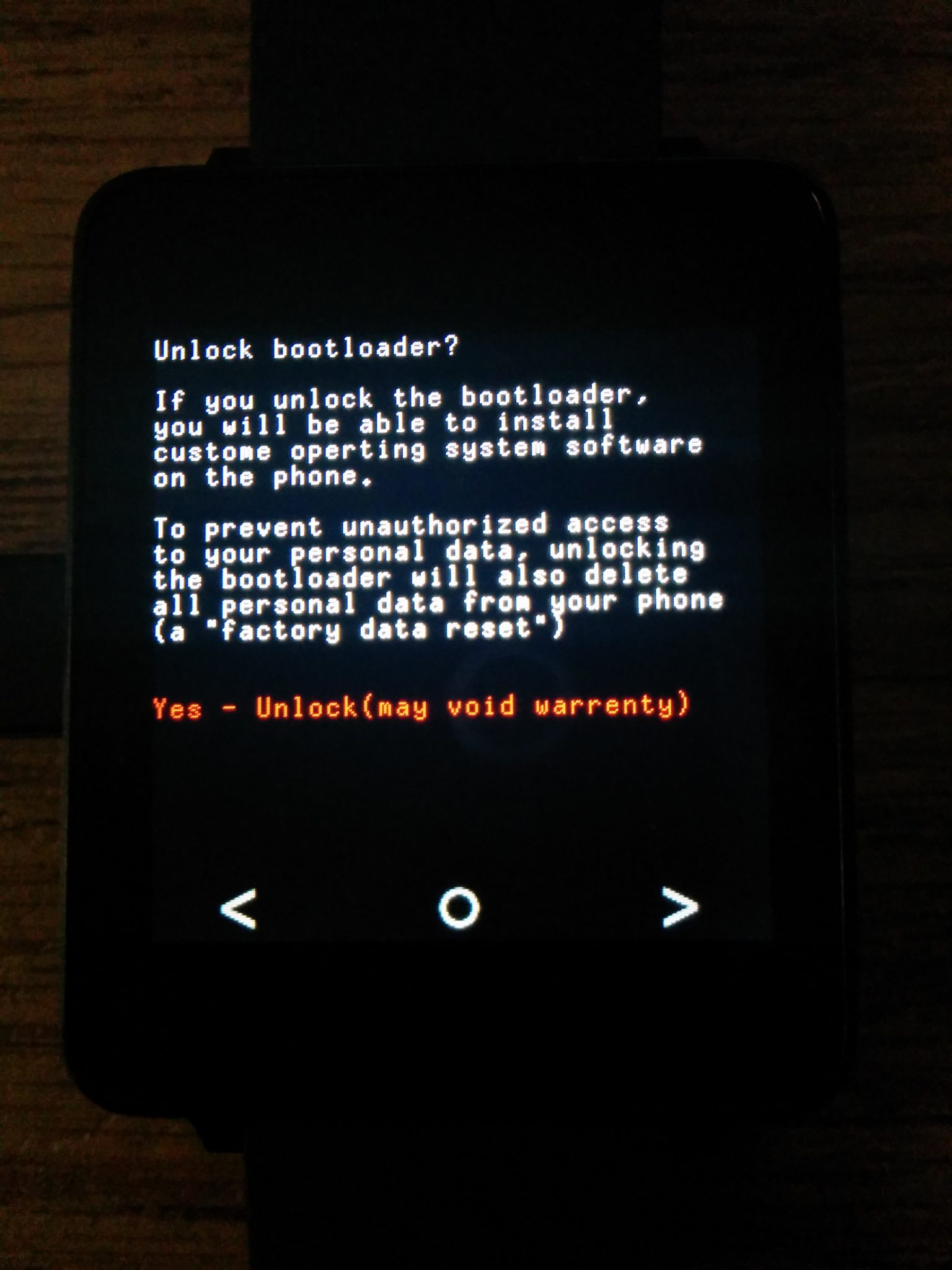 gwatch bootloader - LG G Watch gets it's First Android Wear Custom Rom