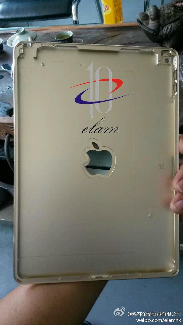 iPadAir2 Gold AndroDollar 3 - LEAKED : Apple iPad Air 2 back panel in Gold