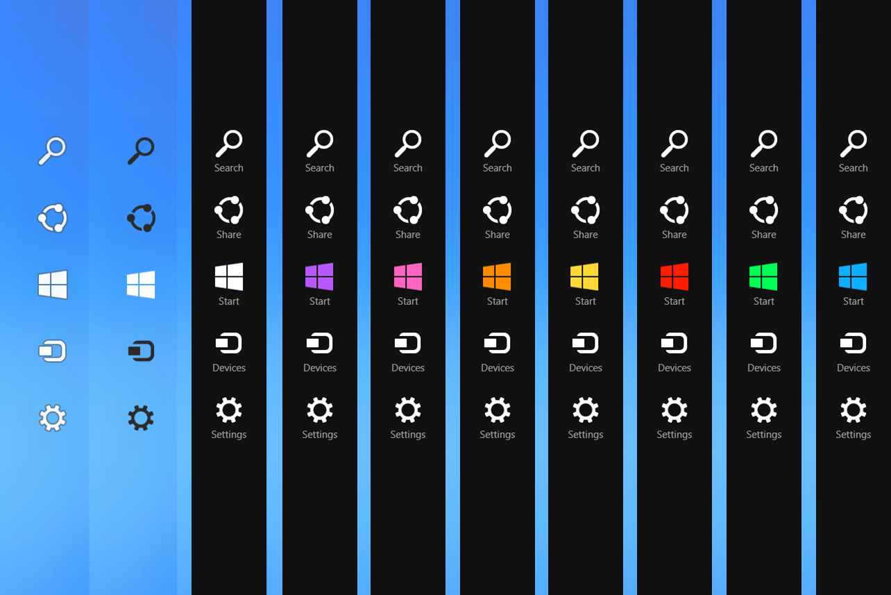 win 8 charms bar xp - Microsoft to Introduce Virtual Desktops with Windows 9 and Kill the Charms Bar