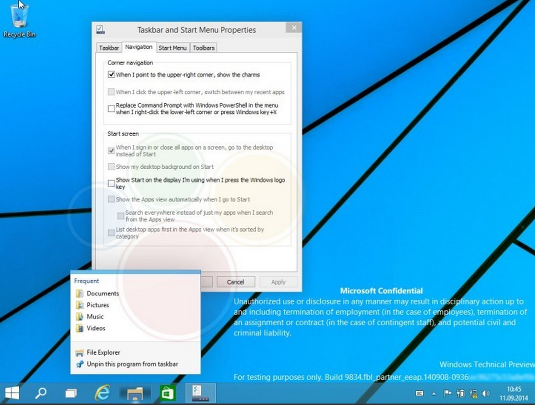 Windows9 Build9834 Leaked AndroDollar 10 - LEAKED : 20 Windows 9 Screenshots & A Video show some Interesting changes