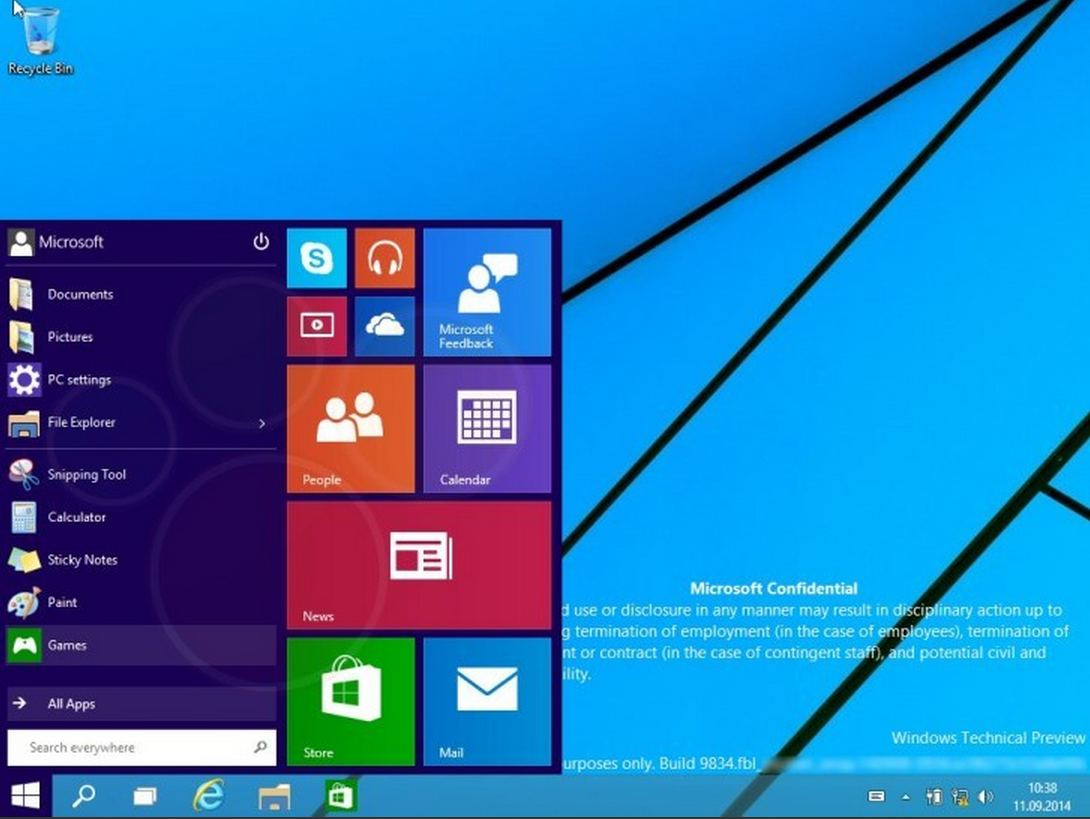 Windows9 Build9834 Leaked AndroDollar 2 - LEAKED : 20 Windows 9 Screenshots & A Video show some Interesting changes