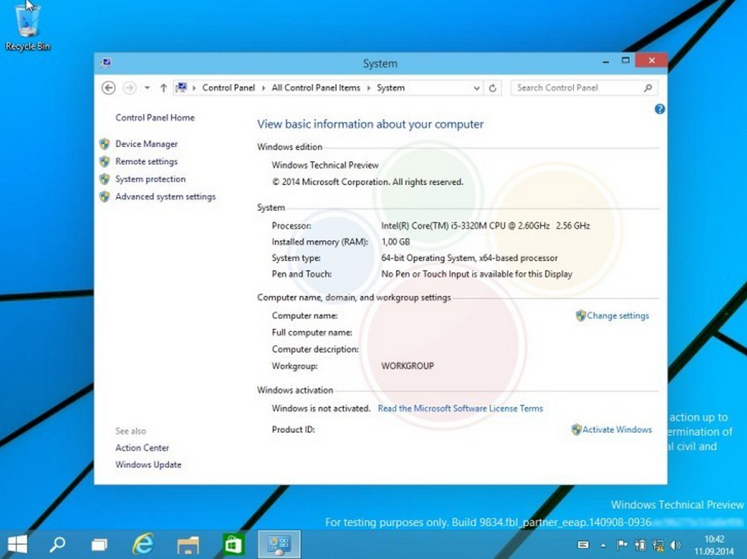 Windows9 Build9834 Leaked AndroDollar 7 - LEAKED : 20 Windows 9 Screenshots & A Video show some Interesting changes