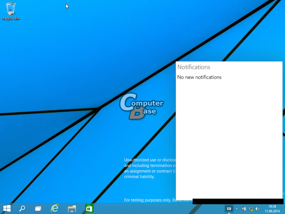 notificationcenter - LEAKED : 20 Windows 9 Screenshots & A Video show some Interesting changes