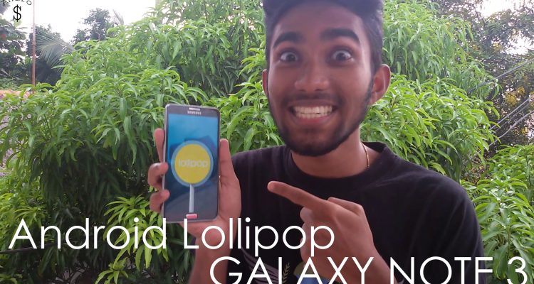Androd Lollipop Note 3