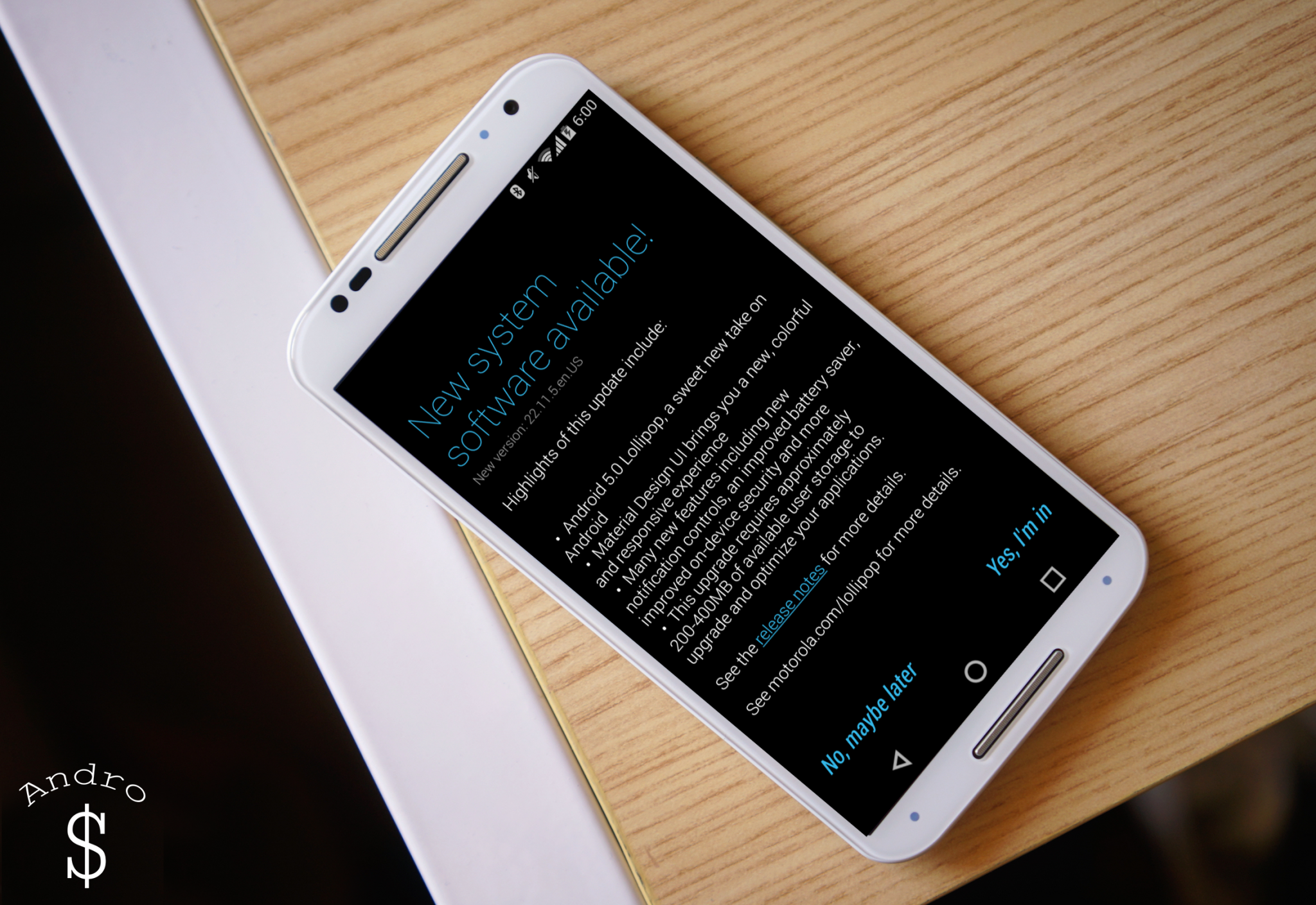 Moto X (2014) Android 5.0 Lollipop Software Update – Andro Dollar