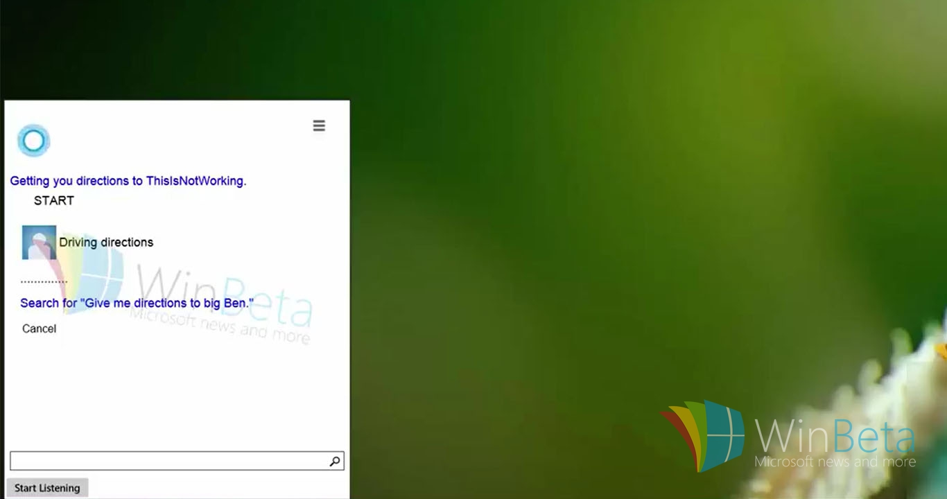CortanaWindows10 - Video demonstrates Cortana running on Windows 10